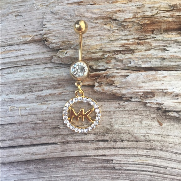 5717108789d9 Gold Diamond MK Belly Button Navel Ring